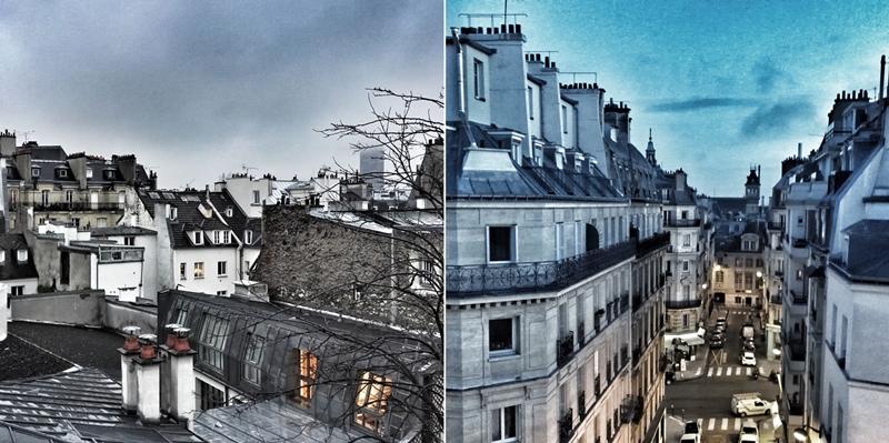 paris, rooftops
