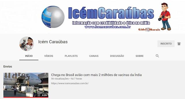 Icém Caraúbas: Nos sigam no nosso novo canal do YouTube