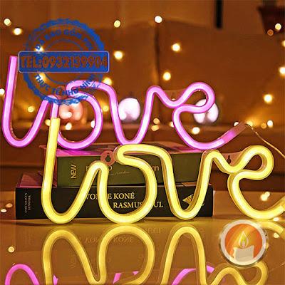 Đèn led neon hình LOVE