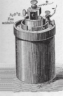 bateria acido nitrico duas celulas bunsen