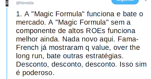 magic thesis formula Joel greenblatt proved that his magic formula, as described in his excellent book the little book here is the abstract of pim's thesis: joel greenblatt's magic formula trading strategy was able to.