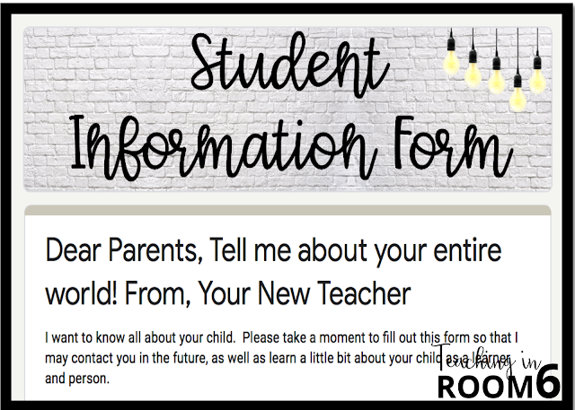 Gathering information with a Student Info Form