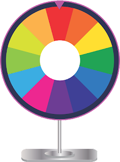 multi-colored prize wheel illustration