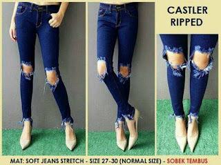 celana jeans cutbray, celana jeans, celana jeans wanita, celana jeans wanita sobek tidak tembus, celana jeans HW, celana jeans sobek tembus, celana jeans karet