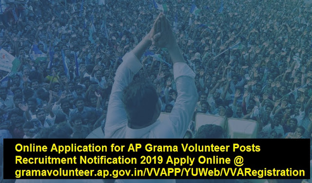Online Application for AP Grama Volunteer Posts Recruitment Notification 2019
