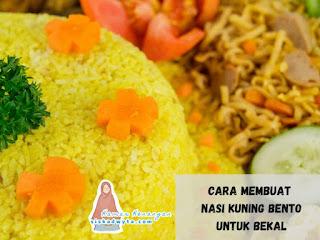 Cara membuat nasi kuning bento