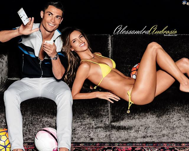 Cristiano Ronaldo & Alessandra Ambrosio