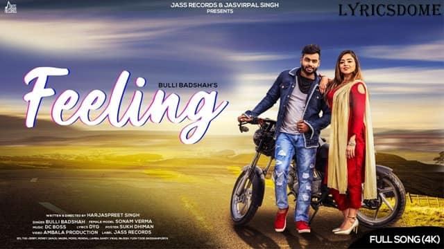 Feeling Lyrics - Bulli Badshah