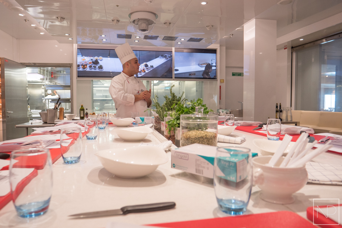 Viking Cruises Kitchen Table Cooking Class