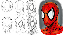 marvel draw step spiderman spider drawing comic characters comics mask tutorial sketch robertmarzullo drawings deviantart easy head simple face steps