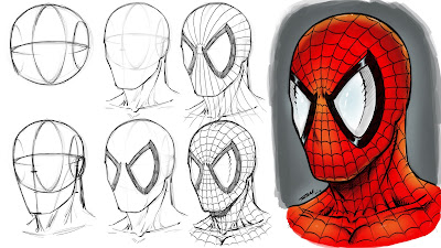 Spiderman Drawing Step by Step Tutorial