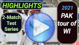 West Indies vs Pakistan Test Series 2021
