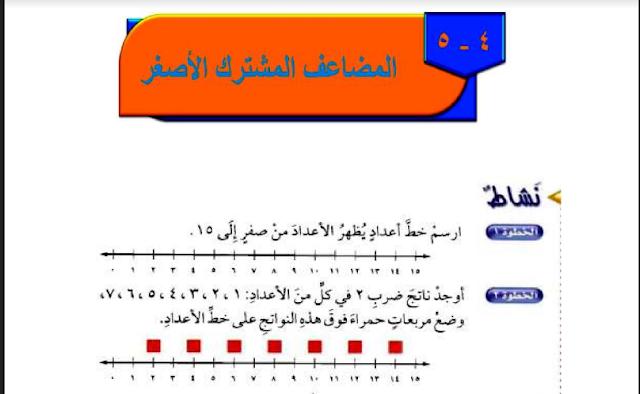 حل درس المضاعف المشترك الأصغر الرياضيات للصف السادس ابتدائي