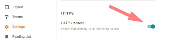 http redirects setting