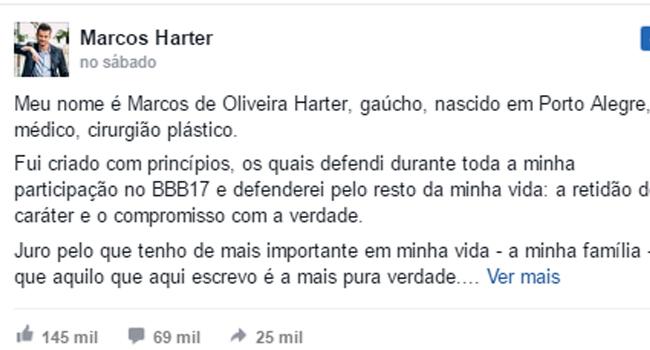 Carta de Marcos Harter
