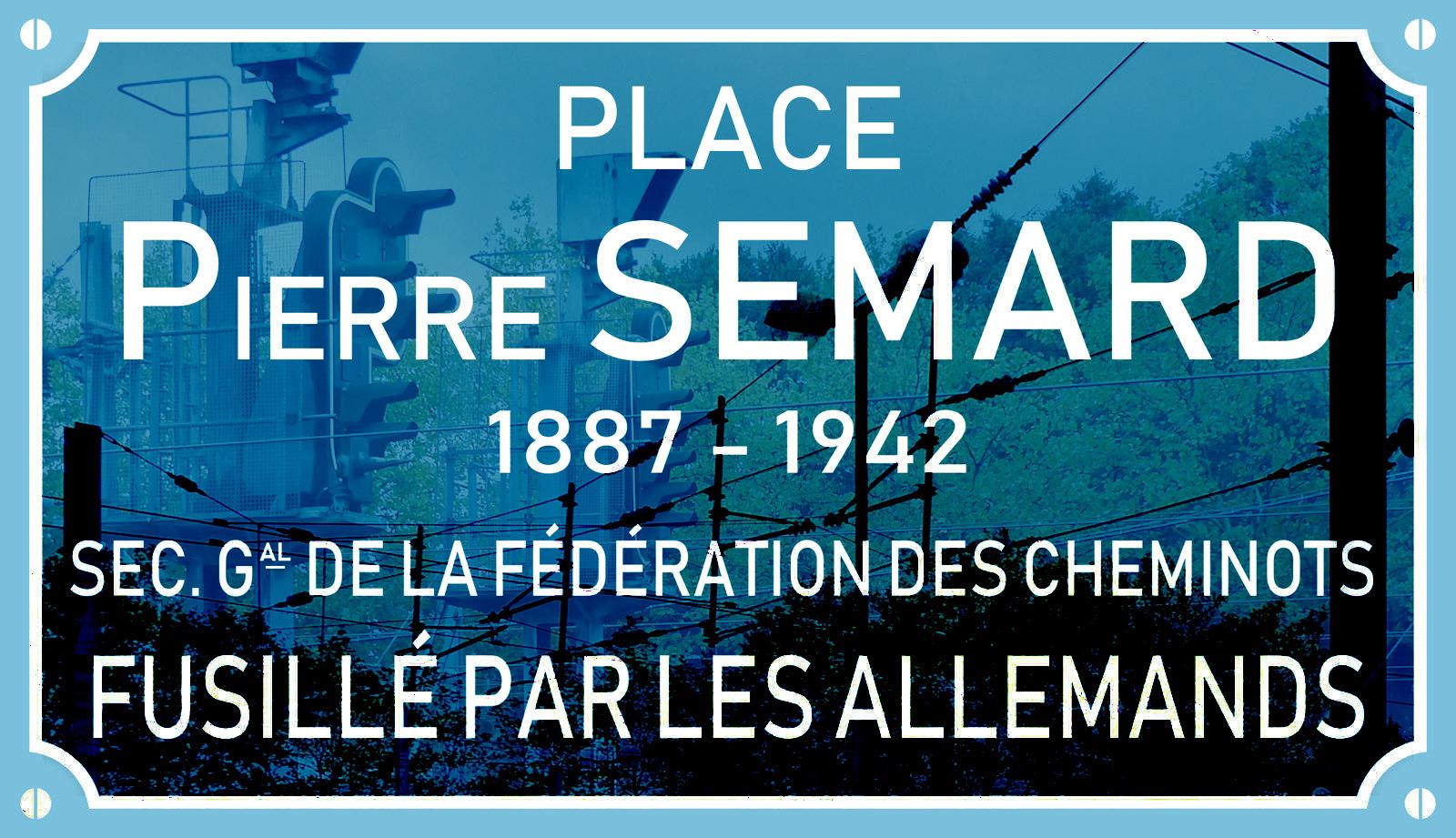 Place Pierre Semard, Gare de Tourcoing - Plaque