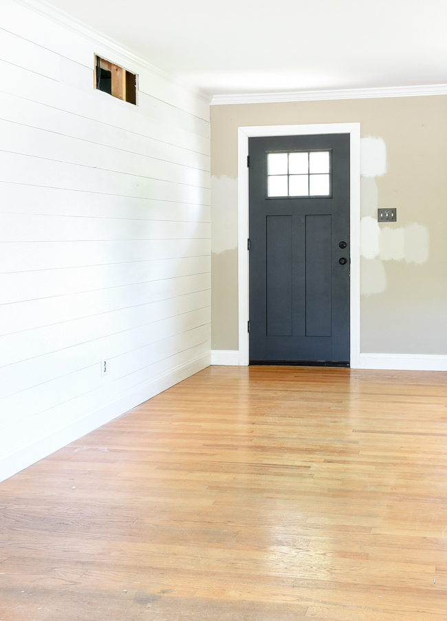 Empty house tour entryway