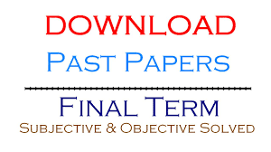 Download All Vu Final Term and Mid Term Solved Papers By Moaaz One Place