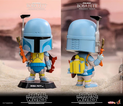 Star Wars Animated Edition Boba Fett Cosbaby Mini Figure Bobble Head by Hot Toys