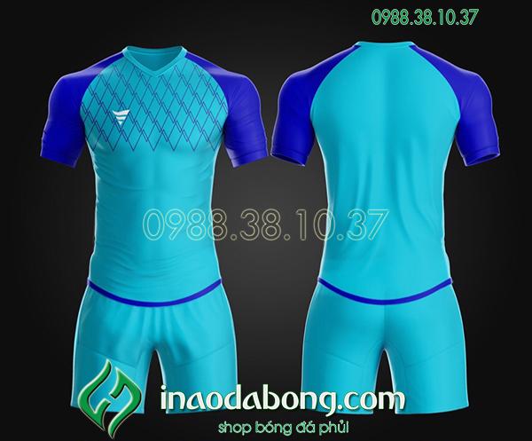 Áo bóng đá ko logo TA Spe màu xanh dương