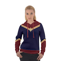 Inspired Captain Marvel Hoodie For Winter