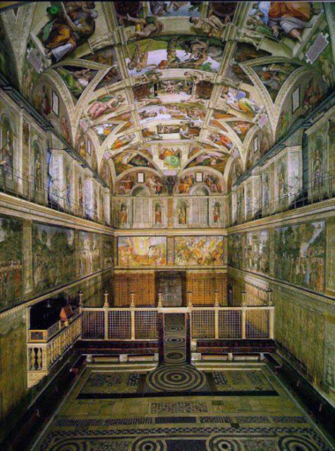 A parte mais famosa do Vaticano é a Capela Sistina