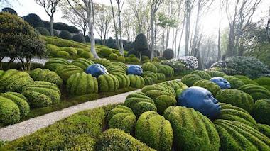 Les jardins d'Étretat. Un jardín de esculturas con vistas