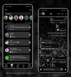 Material Space Dark Theme For YOWhatsApp & Fouad WhatsApp By Ethel