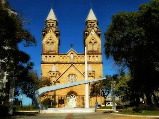 Praça João Ribeiro e Catedral de Lages