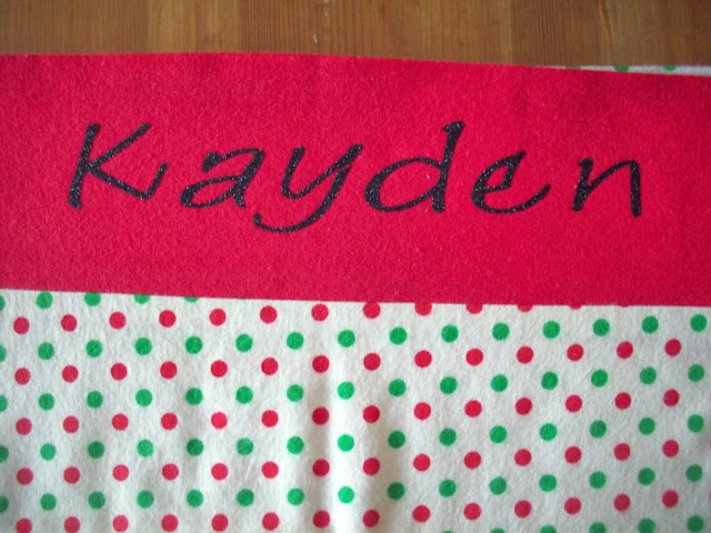 Christmas pillowcases with black Glitter iron on vinyl