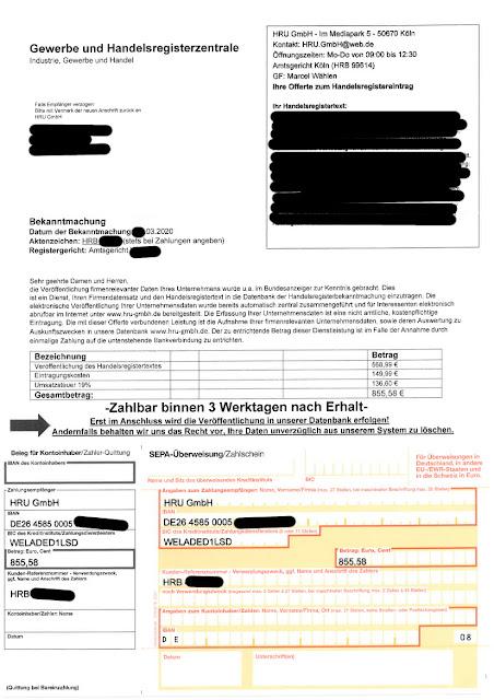 Scan: Offerte HRU GmbH / März 2020