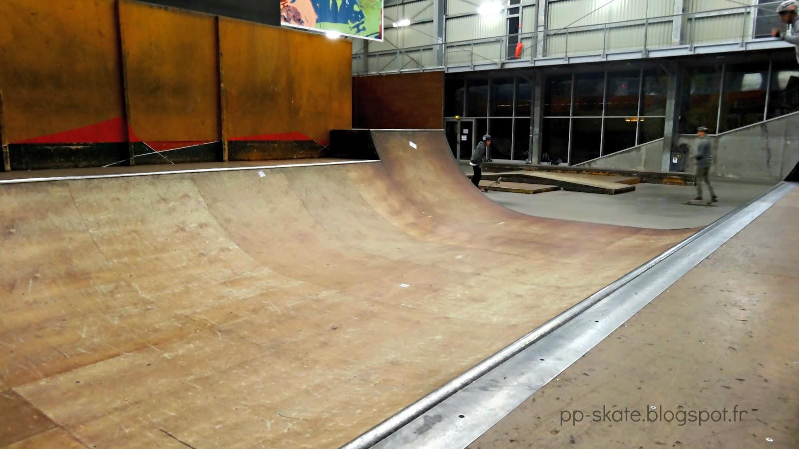 Halle de glisse Lille rampe