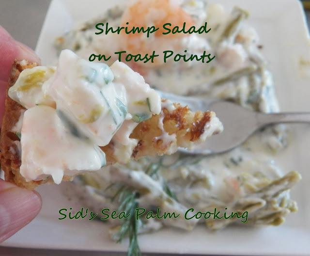 Shrimp Salad with Toast Points