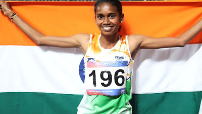 P. U. Chitra wins Gold at the Folksam Grand Prix 2019