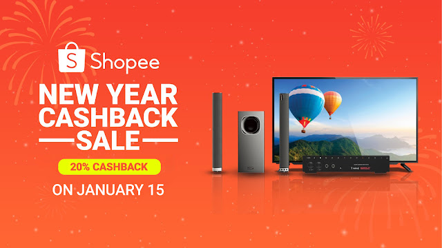 Shopee Kicks Off 2020 with Shopee New Year Cashback Sale