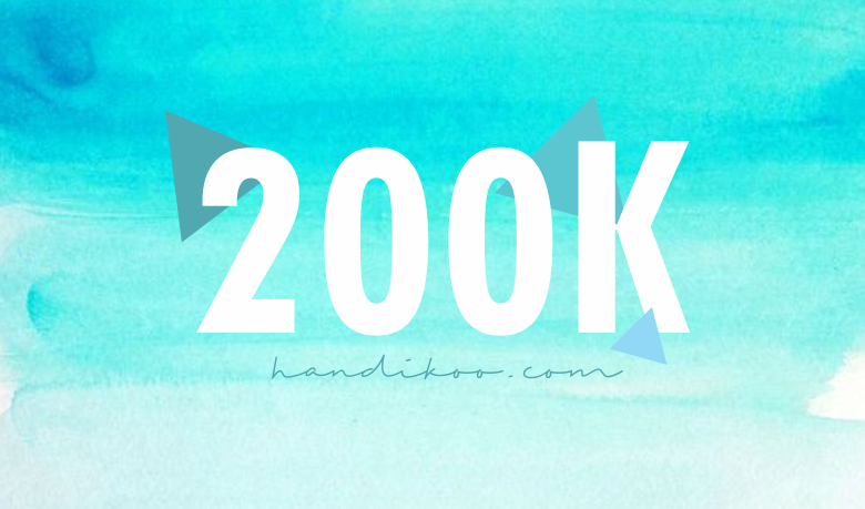 Blog Tembus 200K, Aku Bahagia!