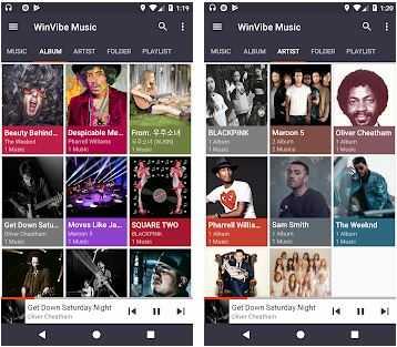 WinVibe Music Player latest original and apk MP3 Audio