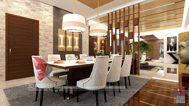 3D Interior Services for Dining Room