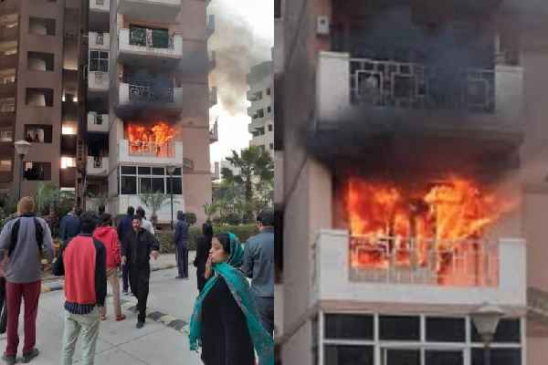 faridabad-srs-residence-fire-in-a-flat-news-greater-faridabad