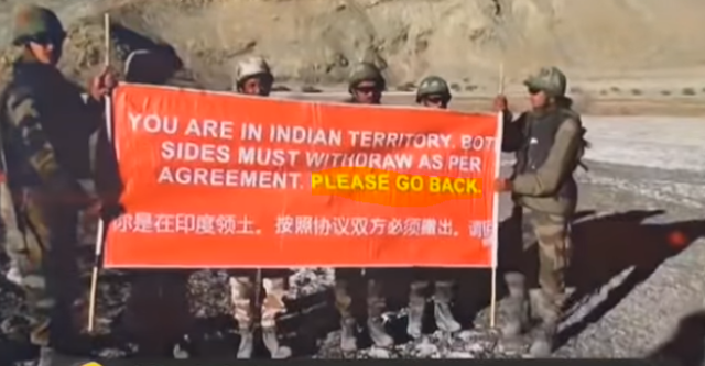 India requesting China to Please go back