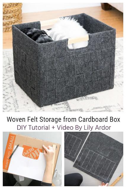 faux cardboard felt box
