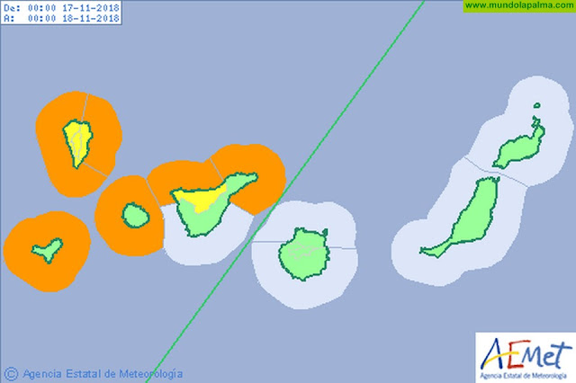 Aviso naranja por fenómenos costeros a partir de esta noche