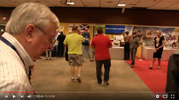 A brief glimpse of me (far right) at last year's Hamvention