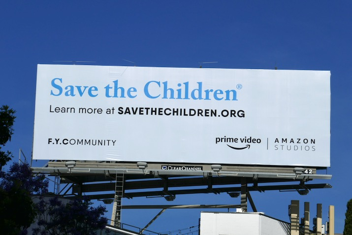 Save Children FYCommunity Amazon billboard