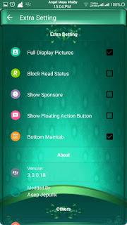 BBM MOD Blue Green Toska Angelic v3.0.0.18 APK Terbaru 2016