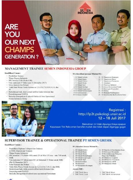 Lowongan kerja PT Semen Indonesia (Persero)