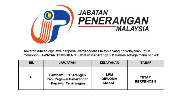 Permohonan Terbuka Jawatan di Jabatan Penerangan Malaysia