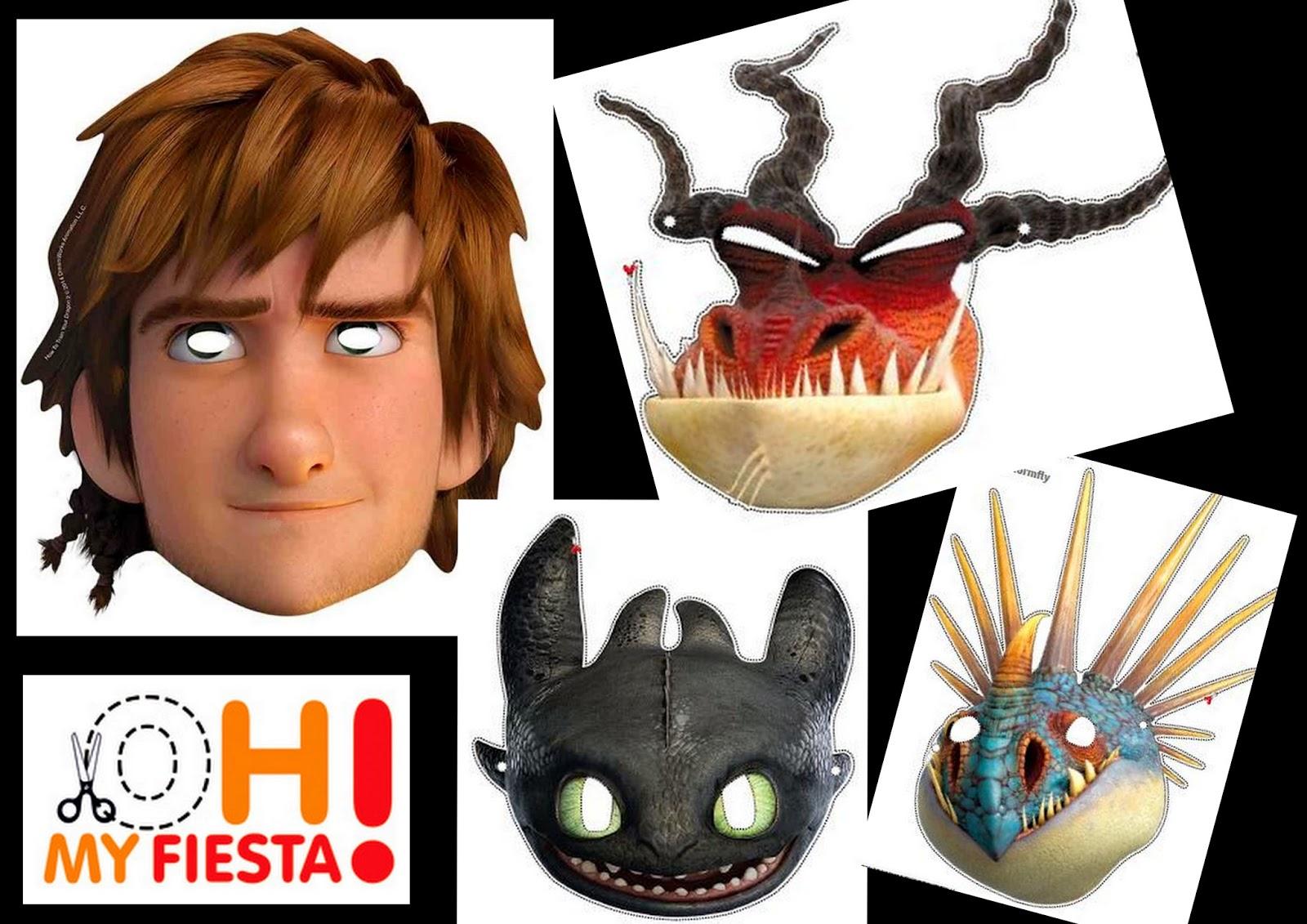 Cómo Entrenar a tu Dragón: Máscaras para Imprimir Gratis. | Ideas y ...