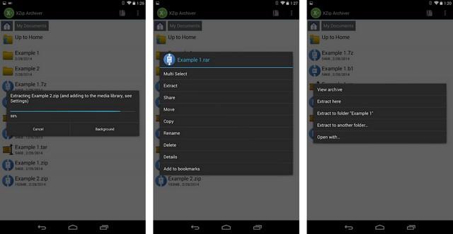 XZip - أفضل تطبيقات فتح الملفات المضغوطة للاندرويد