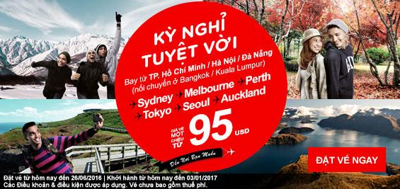 Khuyến mãi Air Asia niềm vui bất tận chỉ từ 7 USD